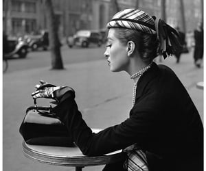 black and white, vintage, and paris image