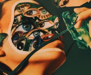 art, Collage, and eyes image