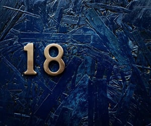 eighteen, navy blue, and numbers image