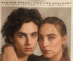 Saoirse Ronan, timothee chalamet, and little women image