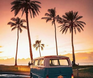 sunset, travel, and summer image