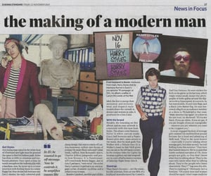 article, newspaper, and Harry Styles image