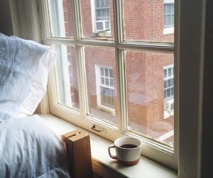 coffee, bed, and room image