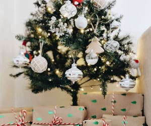 christmas tree, december, and gifts image