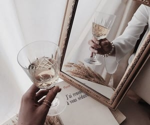 mirror, drink, and book image