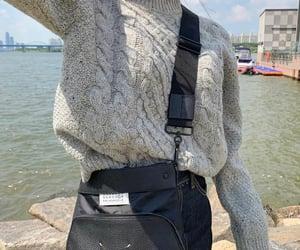 fashion, grey, and black bag image