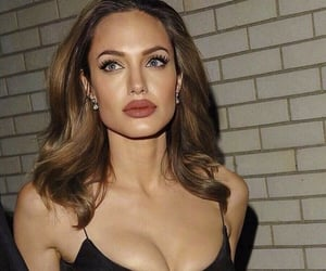 Angelina Jolie, woman, and girl image