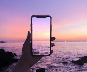 sky, purple, and sea image