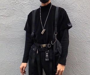 black, aesthetic, and clothing image