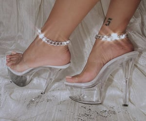 anklets, ice, and stripper heels image