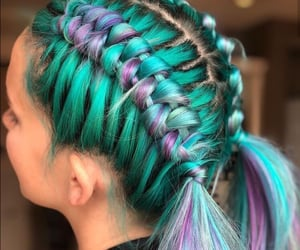 art, braids, and colours image
