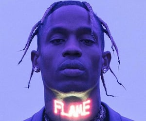 model, theme, and travis scott image