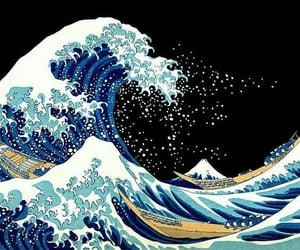 wallpaper, waves, and blue image