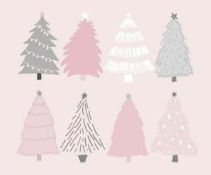 christmas, pink, and wallpaper image