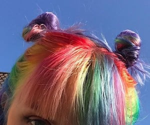 hair, rainbow, and tumblr image