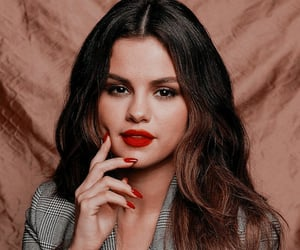 beauty, red lips, and selena gomez image
