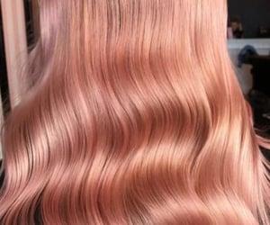hair, long, and peach image