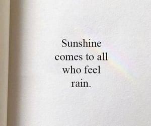 quotes, rain, and sunshine image