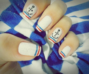 nails, azul, and unhas image