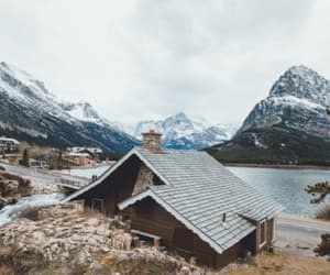 home, lake, and landscapes image