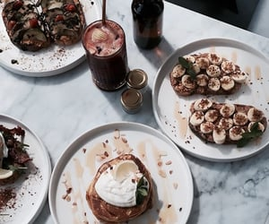 food, drink, and pancakes image