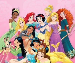 ariel, rapunzel, and snow white image