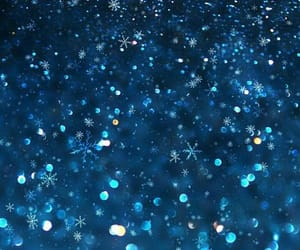 blue, snow, and christmas image