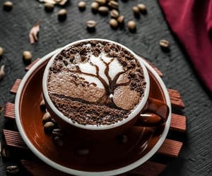 cafe, cappuccino, and drinks image
