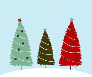 christmas, wallpaper, and tree image