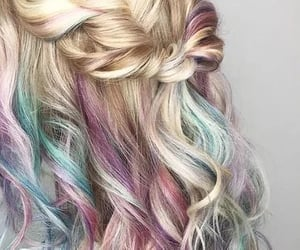 belleza, colores, and hair image