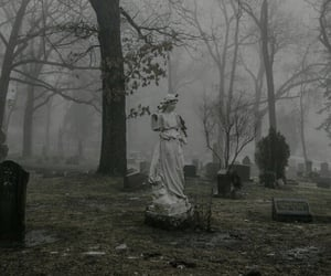 cemetery, grunge, and dark image