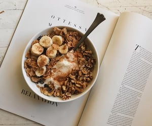 breakfast, food, and book image
