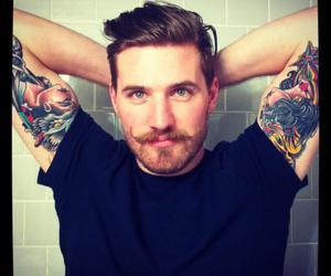 beard, boy, and tattoo image