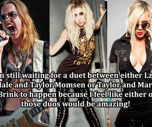 Taylor Momsen, the pretty reckless, and in this moment image