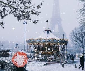 winter, snow, and paris image