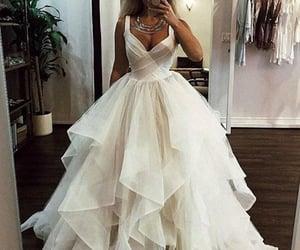 wedding dress, bride, and dress image