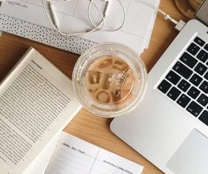 books, work, and coffee image