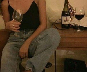 wine, grunge, and outfit image