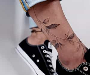 beautiful, leg tattoos, and ink image