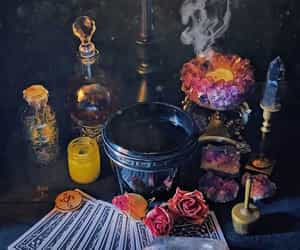 altar, tarot, and wicca image