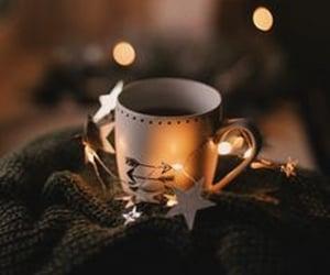 coffee, christmas, and light image