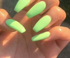 nails, green, and neon image