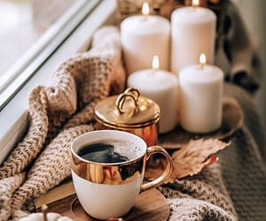 coffee, autumn, and candle image