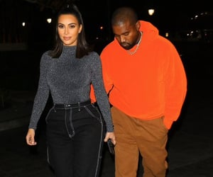 fashion, kanye west, and kim kardashian image