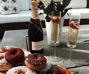 donuts, food, and champagne image