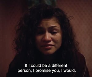 euphoria, zendaya, and sad image