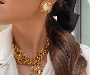 fashion, gold, and hair image