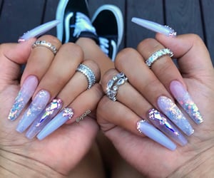 accessories, long nails, and nails image
