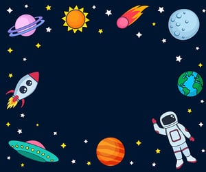 art, astronaut, and doodles image