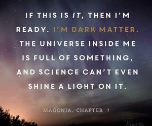 book, universe, and dark image